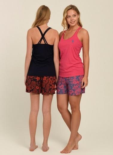 U.S. Polo Assn. Pijama Takım Fuşya